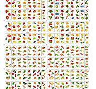 8sheet / sac de clous de transfert fraise fruits et légumes de l'eau de modèle autocollant autocollants de décoration