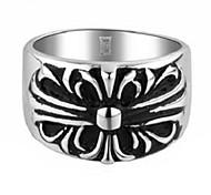 ChromeHearts Style Crusaders Flower Titanium Steel Rings(1Pc)
