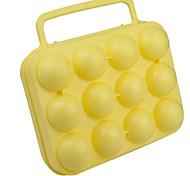 outdoors amarelo recipiente pp ovo para uma dúzia