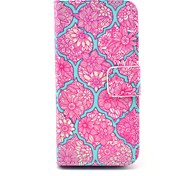 Beautiful Flower Mandala Pattern PU Leather Cover with Stand and Card Slot for iPhone 6