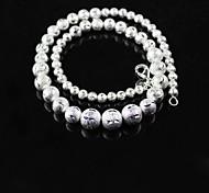925 Silber-Flash-Sand Perlenkette