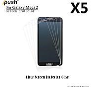 alta transparencia mate Protector de pantalla para la galaxia de Samsung de mega 2 (5 piezas)