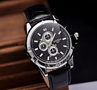 Men's Watch Modern Fashion Metal Quartz PU Band(Assorted Colors)