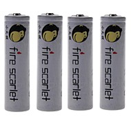 Fire Scarlet 6000mAh 18650 Rechargeable Lithium Ion Battery (4pcs)
