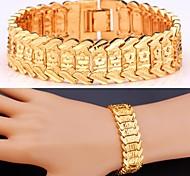 u7®flowers браслет 18k реальное золото платина покрыл цепной браслет коренастый ювелирные изделия браслет для мужчин / женщин
