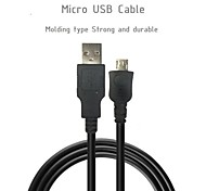 Micro USB Cable 28AWG*1P+24AWG*2C Speed 480M Phone Cable USB2.0 Data Sync Charger Cable For Nokia HTC Samsung(100cm)