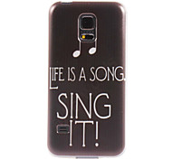 sing it Design Soft Case for Samsung Galaxy S5 mini
