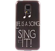 Sing es zu entwerfen weiche Tasche für Samsung Galaxy mini s5