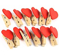 Creative Decoration Love Small Clip (12pcs)