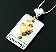 venda de coração pingente colares quentes cor aleatória