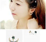 Luxury Diamond Moon Star Cute Earrings