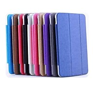 7 Inch Three Folds Pattern High Quality PU Leather Case for ASUS MEMO pad 7 ME176C(Assorted Colors)