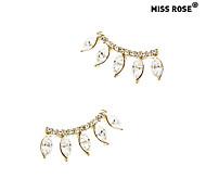 The Eyelashes Design Diamond Earrings