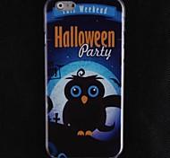Black Owl Design Hard Cover Case for iPhone 6