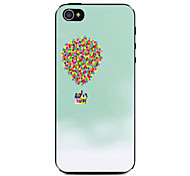 Green Background Balloon Cabin Pattern Hard Case for iPhone 4/4S