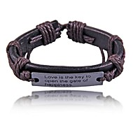 Personalized Metal Box Leather Bracelets(Hualuo Jewelry)