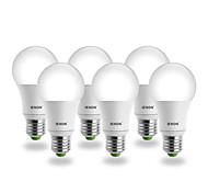 5W E26/E27 Lampadine globo LED G60 COB 400-450 lm Bianco AC 100-240 V 4 pezzi