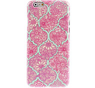 Elegant Flower Pattern Hard Case for iPhone 6