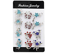 Fashion Rhinestone Brooches (One Pack Includes 12 Pcs) Random Color