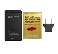Minismile™ Replacement 4500mAh Li-ion Battery with Special Battery Charger and EU Plug for Samsung Galaxy Note 3 / N9000