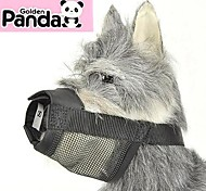 Dog Muzzles Adjustable/Retractable Black Nylon