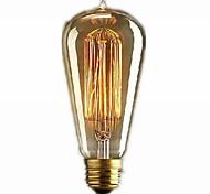 E27 60w Retro Industry Incandescent Bulb 600lm Warm White Drop Style(220V-240V)