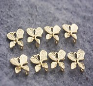 Fashion Orchid Golden Alloy Charm Accessory(3pcs)