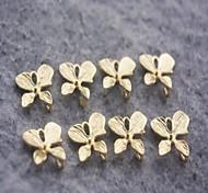 moda orchidea in lega d'oro accessorio fascino (3pcs)