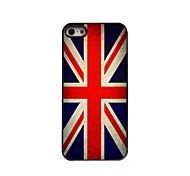 vintage caso duro l'alluminio di disegno Union Jack per iPhone 5 / 5s