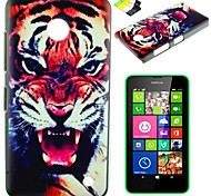 Tiger Pattern PC Hard Case Have A Perfume and Phone Holder  for Nokia Lumia N630