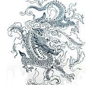 1 pcs tatuagem à prova d'água padrão de imagem em preto dragão etiquetas