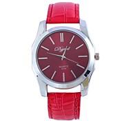 Men's and Women's Fashion Belt Simpl Circular Belt China Movement Watch (Assorted Colors)