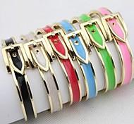 Fashion Buckle Oil Drip Black Alloy Bracelets(1 Pc)