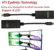 ATI Eyefinity Active Mini DisplayPort to HDMI Converter Cable Support ATI Eyefinity 6 LCD 20cm