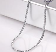 Eruner®Unisex 1MM Silver Chain Necklace NO.42