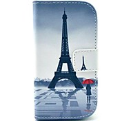 Tower Pattern PU Leather Case with Stand for Samsung Galaxy S3 MINI I8190