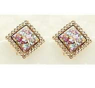 brilhando quadrados diamante Brincos