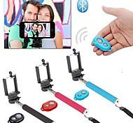 KLW selfie prorrogável monopé handheld câmera com suporte para celular e obturador remoto Bluetooth para iphone