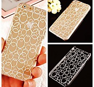 Ring Pattern Transparent Back Case for iPhone 6 Plus