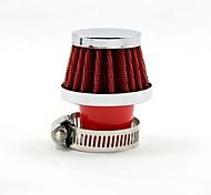 Tirol 25 milímetros mini-vermelho universal diâmetro entrada de ar frio rodada cônico filtros de ar de automóveis