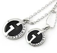 Cheap Fashion Alloy Letters Couple Necklaces Random Color