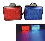 Carking™ 12V Car Vehicle Grille Deck decorative Led Warning Flashing Strobe light-Red/Blue