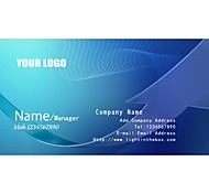 Personalized Business Cards 200 PCS Classic Blue Pattern 2 Sided Printing of Fine Art Filmed Paper