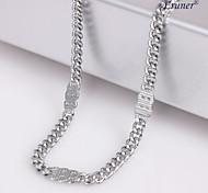 Eruner®Unisex 4MM Silver Chain Necklace NO.33