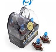 HM® faros lámpara halógena de 24w 12v bombillas blancas H16 plasma xenón (un par)