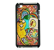 Graffiti Leather Vein Pattern Hard Case for iPod touch 4