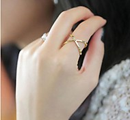 Korean Cross Solid Hollow Female Joint Ring