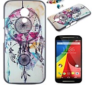 Wind Chimes Pattern PC Back Cover Case With Dustproof plug for Motorola G2