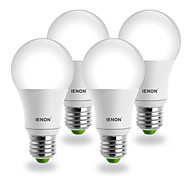 E26/E27 Lampadine globo LED G60 COB 400-450 lm Bianco caldo AC 100-240 V 4 pezzi