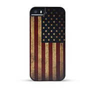 GMZS Wooden Case US Flag Bamboo Wooden Back Cover for iPhone 5